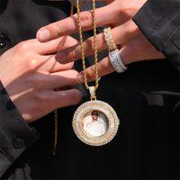 Personalizzato immagine pendente collane uomo donne hip hop designer di lusso diamante personalizza foto pendenti coppia gioielli famiglia gioielli amore regalo 118 T2