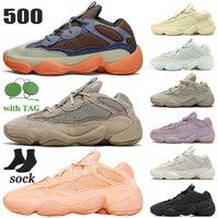 500 Kanye West Boost Scarpe da corsa Uomo Donna Scarpe da ginnastica sportive Stone Soft Vision Bone white Utility Black Blush Salt taglia 36-47