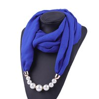 Cor sólida chiffon chiffon colar pingente cachecol hijab multi-estilo decorativo moda cachecol turbante acessórios de cabelo atacado