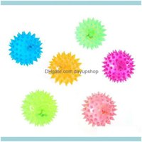 Toys Chews Supplies Home & Gardenflashing Light Up Lovely Dog Puppies Cat Pet Hedgehog Rubber Bell Sound Ball Creative Funny Playing Toy For