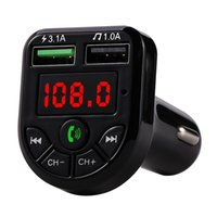 Cheap CARE3 CARE5 Multifunction Bluetooth car kit Transmitter 3.1A 1A Dual USB Car charger FM MP3 Player support