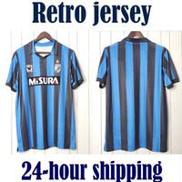 Retro 88 90 Inter Home Milan 1988 1990 Camisetas de Fútbol Soccer Jersey Vintage Football Hemd Classic Camiseta