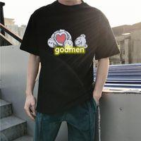 Moda de diseño de palma oso impreso camisetas hombre mujer verano camisetas para hombre negro blanco ángeles mangas cortas polos ropa s-xl