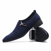 2019 Hombres Casual Lienzo Zapatos Classic Formal Business Oxford Shoes Mens Boda Oficina Vestido Zapatos de Hombre M9m5 #