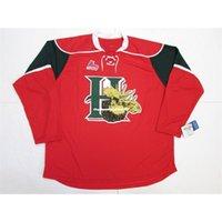 Custom Custom Custom Halifax Mooseheads QMJHL Red Home Premier 7185 Stick Jersey Hockey Ajouter n'importe quel numéro N'importe quel nom Nom Hockey Jersey XS-6XL