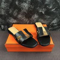 2021 Последние классические сандалии женщин Летние  Flip Plops Flat Beach Ship Size 35-42