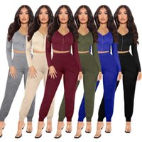 women jacket sportswear two piece set tracksuits outfits long sleeve trousers sweatsuit pullover tights legging suits S-XXL