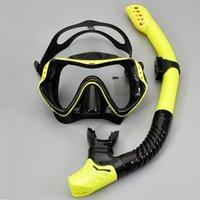 Anti nevoeiro óculos de máscara de mergulho profissional com snorkel óculos tubo ajustável cinta para mulheres homens de natação adulto