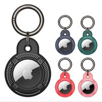 Case For Apple Airtags Air Tags Soft Silicone Carbon Fiber Bluetooth Wireless Tracker Carry Cover Anti-lost Protector Shell