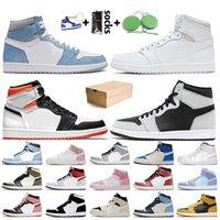 Nike Air Jordan 1 Off White Jordan 1 retro 1s jumpman Vente chaude Chicago New Love Jaune Cour Violet Femmes Hommes Chaussures de Basketball Obsidienne Fearless sneakers