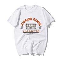 Смешные наруто японские аниме футболка мода наруто Узумаки Ичираку Рамена печать футболки мужские летние хлопковые хип-хоп футболки 210317