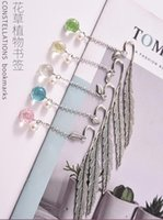 1pc Creative Flower Specimens Bookmark Pendant Metal Book Mark Stationery School Office Supply Feather Dr qylBgq homes2011