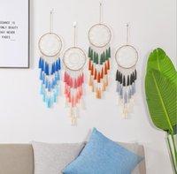 Dreamcatcher Hree Color Tassel Wind Chimes Handmade Dream Catcher 그물 깃털 Dreamcatcher Craft 선물 홈 인테리어 DWB5194