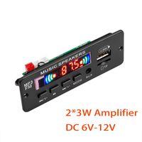 & MP4 Players 6W MP3 Player Decoder Board 5V 12V Bluetooth 5.0 2*3W Car FM Radio Module Support TF USB AUX Recorders Hands-free