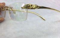 Eyeglasses senza montatura Telaio prescrizione Gold Classic Occhiali ottici Occhiali Occhiali Occhiali Occhiali Occhiali da sole Sole Occhiali da sole Cornici con scatola