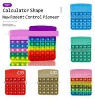 Calculadora de arco-íris Fidget Decompression Decompression Toy Cálculo Matemático Exercício Lógico Capacidade-Stress Relief Interactive Game 4961