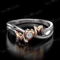HBP Mode Shipai Schmuck Neue Hand Ornament Überzogene Roségold Noble Charm Herz Prinzessin Glänzende Ring