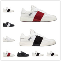 2021 Valentino VL7N LV calfskin lace-up sneakers Top Moda Triplo Triplo Branco VLTN Sapatos Homens Mulheres Casual Sneakers Cow Leather Trainers Treinadores Esporte Sneakers Top