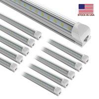 25pcs 8ft 150w, v-shaped Integrate T8 LED 튜브 2 4 5 6 8 피트 형광 램프 15000lm 8Feet 2 빛 튜브 쿨러 도어 조명