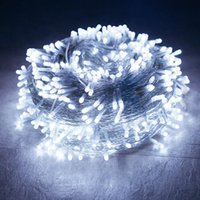 Строки 100 м 1000 светодиодные открытые рождественские струнные светлые садовые задворки дерево свадебные виллы вечеринка фон Фея гирлянда