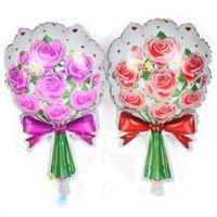 30 stücke Blumenstrauß Folie Ballons Rose Blume Ballon Geburtstag Hochzeits Party Dekorationen Kinder Mutter Geschenke