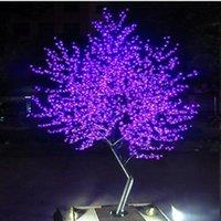 زينة عيد الميلاد 1152 قطعة LED لمبات الكرز زهر شجرة الضوء الأحمر / الأزرق / الأخضر / الأصفر / أبيض / الوردي / puple اختياريا 2 متر / 6.5ft الارتفاع