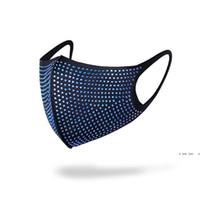 12 Farben Diamant Fashion Gesichtsmasken Staubsichere Anti-Nebel Kreative Waschbare Bunte Diamantsternmasken Lebens Schutzmaske FWB5359