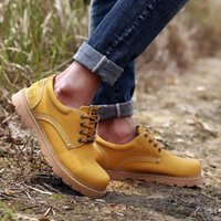 Boots Men's And Women's Small Leather Shoes Tooling Low-top British Trend Big Head Outdoor Hiking Ankle Breathable