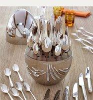 Домашняя мебель посуда модный 24шт нож вилка Christofle Paris настроение столовые приборы набор плаката из нержавеющей стали яйца набор