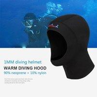 Swimming Caps 1pcs 1mm Neoprene Diving Hat Professional Fabric Cold-Proof Winter Cover Head Swimwear Cap Wetsuits Helmet F0S8