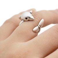 Мода Винтаж Boho Латунь Костяшки Милое Дельфиновое кольцо Прекрасная пара Свадебные Кольца для Женщин Мужчины Ювелирные Изделия Обычные Подарки