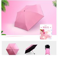 Moda Portátil Homens Guarda-chuva Mini Cápsula Pocket De Proteção UV Chuva Dobrável Mulheres Compact Pequeno Capsule Umbrel Qylfzp