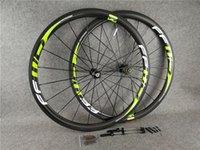 700C 3K لامع الأخضر 38 ملليمتر FFWD F4R الكربون الطريق الدراجة عجلات الجبهة الخلفي العجلات مع 25MM عرض أسود novatec a271 hubs 11 سرعة
