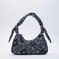 Fashion Printing Canvas Women's Handbag Knotted Dign Shoulder Bag Underarm Women's Bag Brand Hobos Tote Bags for Women Shopper