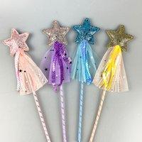 Peri Glitter Sihirli Değnek Sequins ile Püskül Parti Favor Çocuk Kız Prenses Giydir-Up Kostüm Asası Rol Oynamak Doğum Günü Tatili 4778 Q2