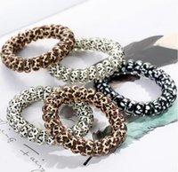 Girl Telephone Wire Cord Gum Coil Hair Ties Girls Elastic Hair Bands Rope Bracelet Stretchy Hair Ropes designer headband
