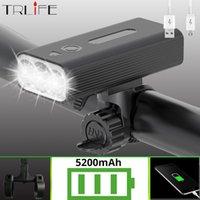 Trlife LED أضواء دراجة USB قابلة للشحن 5200mAh دراجة ضوء الجبهة 3L2 1200 شمعة للماء الصمام دراجة المصباح