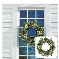 Decorative Flowers & Wreaths Beautiful Holiday Wreath Hanging Garland Realistic Exquisite Plastic Eucalyptus Leave Decor For Home Drop