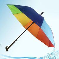 Crutch Umbrella Climbing Hiking Walking Stick Umbrellas With Long Handle Outdoor Windproof Anti-UV Bumbershoot sea ship OWB7806