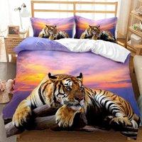 Set di biancheria da letto Bellezza e Forza Tigre Tiger Twin Queen King Kid Bambini Set Luxury Dimensione figura intera Letto Pink Consolatore Cover Duvet Camera da letto