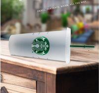 24 أوقية البهلونز البلاستيك شرب كأس عصير مع الشفاه و القش سحر القهوة القدح كوستوم ستاربكس كأس شفافة