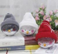 Снеговик пластиковый ясный шар висит вечеринка украшения елки украшения украшения креативные кукла декор домашнего декора 4961