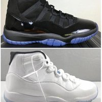 FIBRA DE CARBONO REAL 11 CAP GOWN Night Blackout Men Blackout Men Zapatos 11s Legend Blue Top Sneakers con
