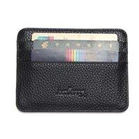 6 Porta carte Color Business Business Tasca tascabile Slim Sottile ID Credito Carta di credito Portafoglio Portafoglio Faux Leather Man Custodia con carta Qyldmy