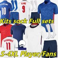 2020 England European Cup Reino Unido Jerseys de fútbol 20 21 Eng Kane Sterling Sancho Rashford Dele Inglaterra Camisetas de Futbol Men niños Camisetas de fútbol