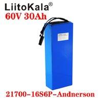 Super lange Lebensdauer Liitokala 60V 30ah 16S6P Elektrischer Roller Bateria 60V 30ah Elektrische Fahrrad Lithium-Batterie-Roller 60V 1000W Ebike Batterie