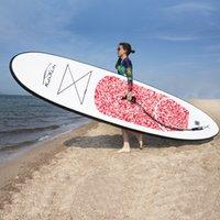 Funwater Uscaeuu Warehouses Drophousses Livraison Dressée dans les 7 jours Planche de surf 305 * 76 * 15cm Paddle Board Gonflable Stand up Paddleboard Laisse Sup Surf Water Sport