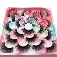 Wholesale Faux Mink Eyelashes 10pairs Fluffy Lashes 18-25mm False Lash Makeup Long Natural Volume 3d Eyelash Extension