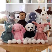 Çirkin Sevimli 33 cm Maymun Fox Panda, Fil Bebek Peluş Oyuncak, Xmas Çocuk Kız Doğum Günü Hediyeleri Için Dolması Hayvan Kolye Süsleme, Ev Dekorasyon