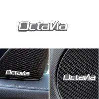 자동차 스티커 3D 알루미늄 엠 블 럼 인테리어 스피커 오디오 배지 Skoda Octavia A7 A5 2 3 2020 2019 2018 액세서리